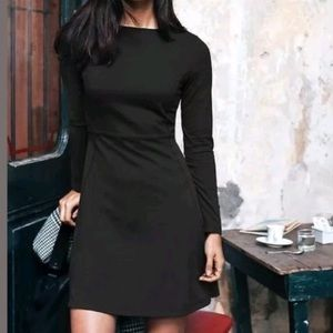 Athleta - Black Cozy Up Fit N Flare Dress